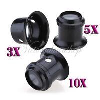 3X 5X 10X Watch Repair Eyes Loupe Jeweller Glass Magnifier Magnifying Len Tool