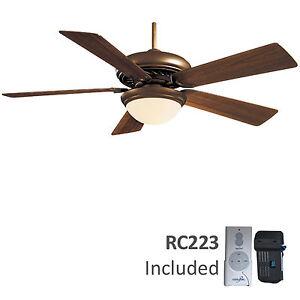 Supra-Oil-Rubbed-Bronze-52-034-Minka-Aire-Ceiling-Fan-with-Remote-Control-F569-ORB