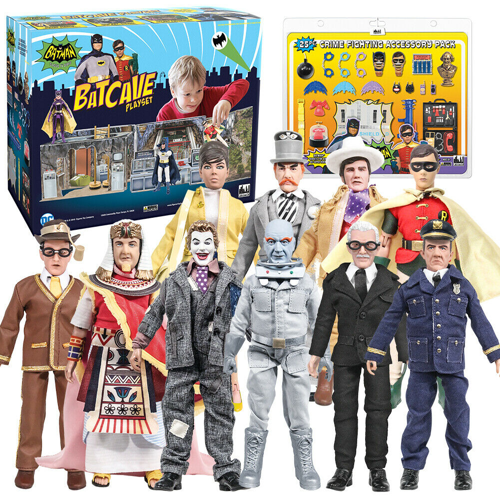 Batman 1966 TV Series  Deal With Batcave, Accessory Pack & 10 Loose Figures