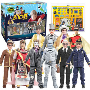Batman-1966-TV-Series-Deal-With-Batcave-Accessory-Pack-amp-10-Loose-Figures