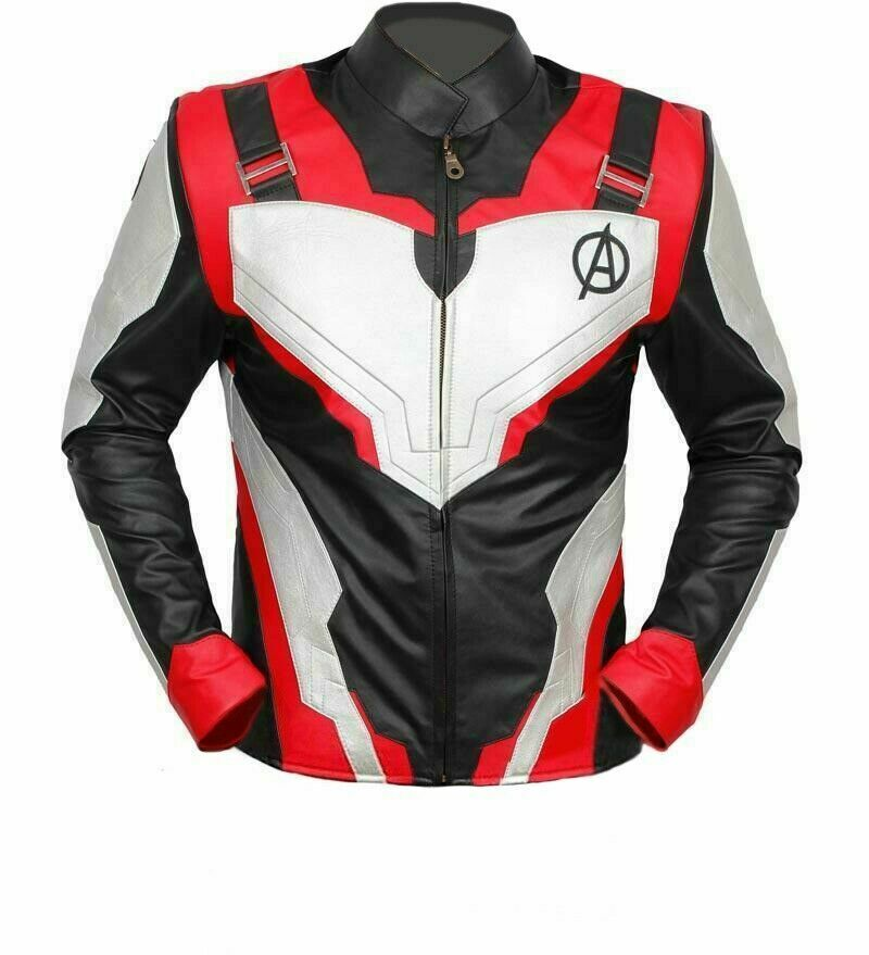 AVENGERS END GAME IRON MAN QUANTUM LEATHER JACKET MENS HALLOWEEN COSTUME NEW