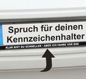 Kennzeichen-Aufkleber-KLAR-BIST-DU-SCHNELLER-ABER-ICH-FAHRE-VOR-DIR-K30