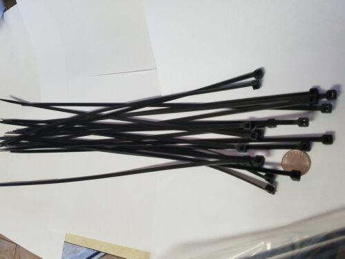 """400 Pack 18/"""" Black Zip Ties//Cable Ties Heavy Duty Nylon UV Resistant UL Scorpion"""