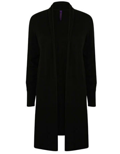 Lange Damen Strickjacke Longline Open Cardigan Gr.XS-XL in 3 Farben W719