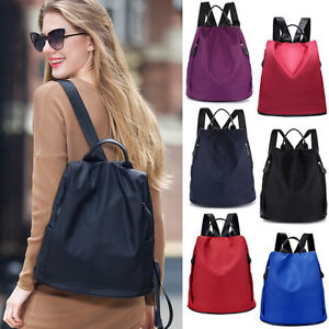 Women-039-s-Waterproof-Nylon-Backpack-Rucksack-Travel-Casual-Purse-bag-Anti-theft