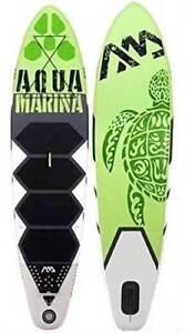 "Aqua Marina Thrive Paddle Board 9'9"" Inflatable Stand Up Paddleboard w/ Paddle"