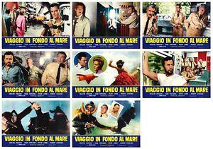 VIAGGIO IN FONDO AL MARE SET FOTOBUSTE 8 PZ. VOYAGE BOTTOM THE SEA LOBBY CARD