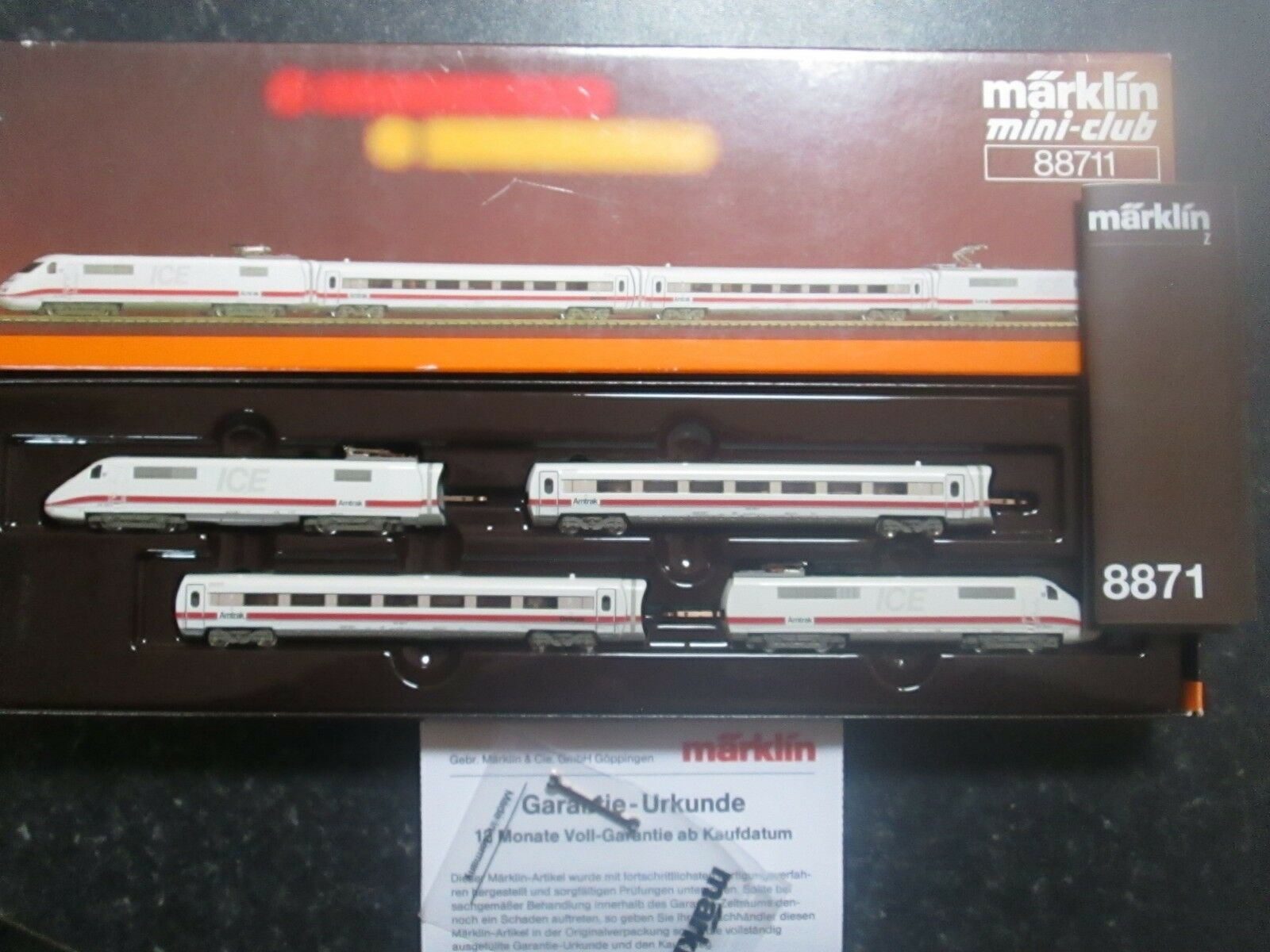 Marklin Sperone Z Scala / Calibro Amtrak Ice Vagone Ferroviario Treno