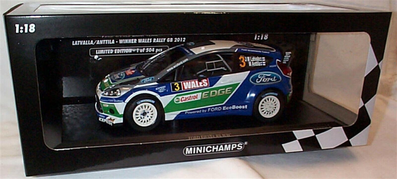 Ford Fiesta RS WRC Winners Wales Rally GB 2012 ltd ed 1-18 New in Box 151120803