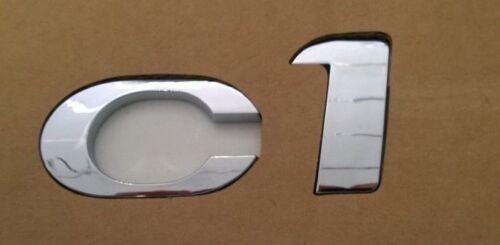 Emblem Wappen Embleme Neu HINTEN CHROM ORIGINAL CITROEN C1 14