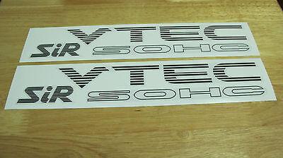 Dark Gray color SR3 VTEC DOHC SiR Decal Sticker for Honda Civic EG 92 93 94 95