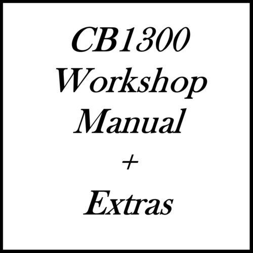 CB1300 CB 1300 W/SHOP MANUAL CD ROM EXTRAS