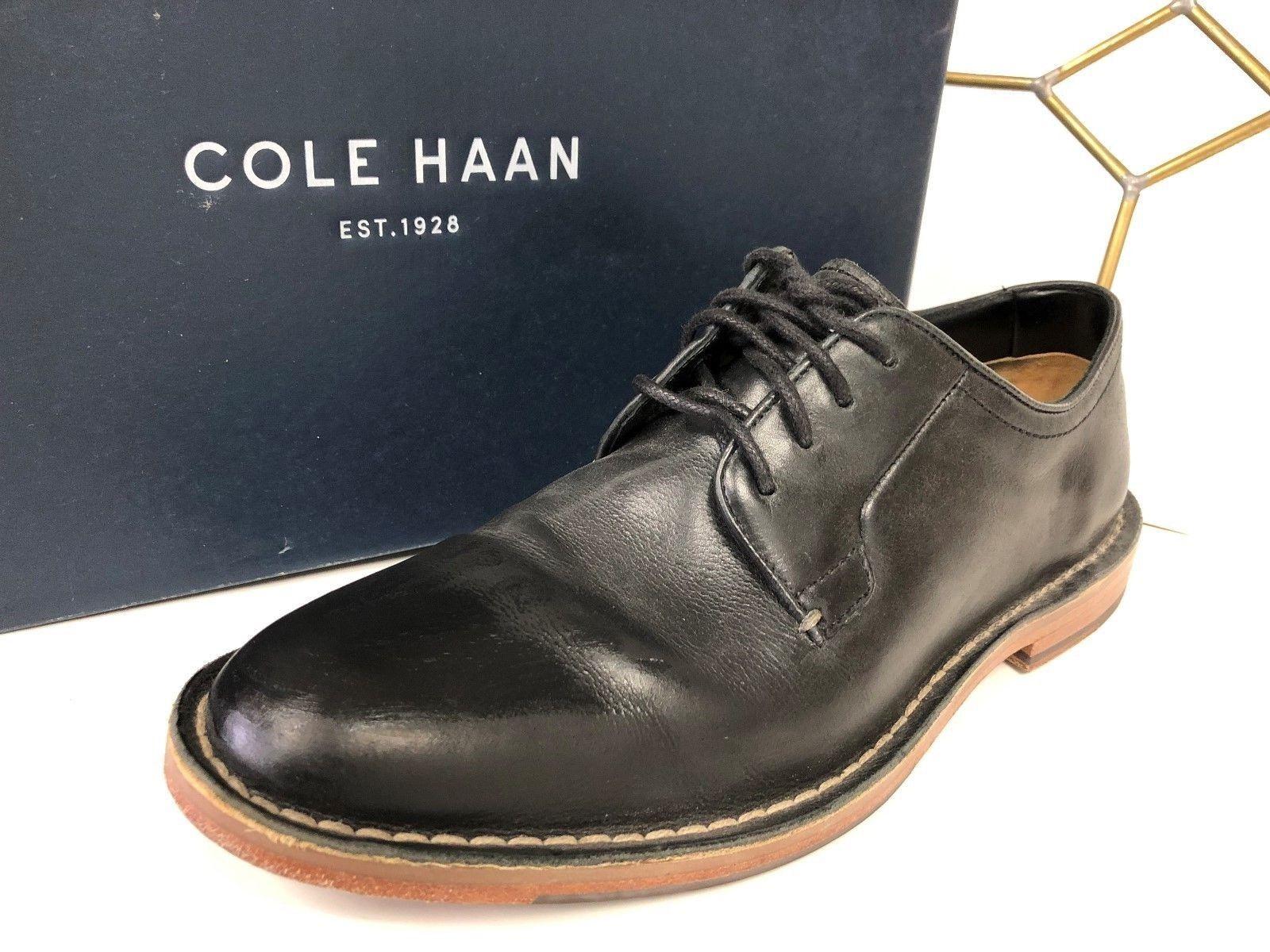 Cole Haan Williams Negro Cuero Con Cordones Calzado Para Hombre Oxford de silla de montar 8.5 M