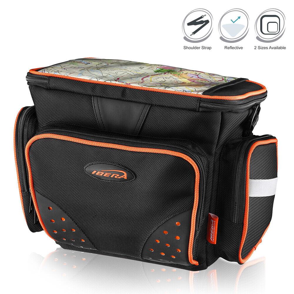 IBERA Bike Bag Handlebar Front Clip-On Frame Tube DSLR Camera Case w Rain Cover