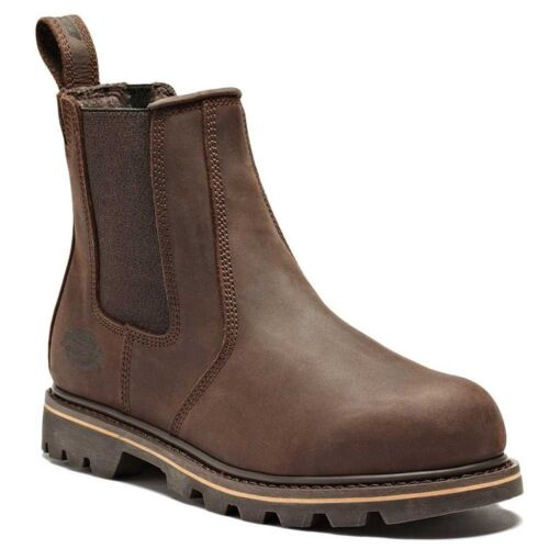 MENS DICKIES LEATHER DEALER STEEL TOE CAP SAFETY CHELSEA WORK BOOTS SHOES SIZE
