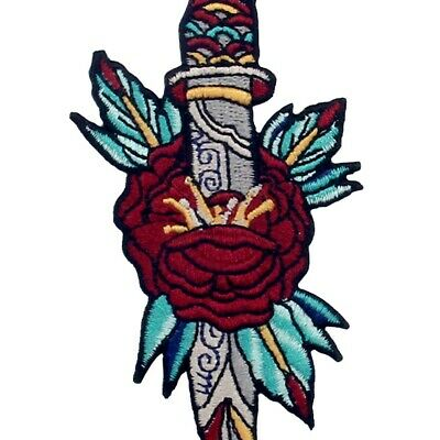 Iron On Sew On Patches Embroidered Badges appliques transfers eyes Gaze Dagger
