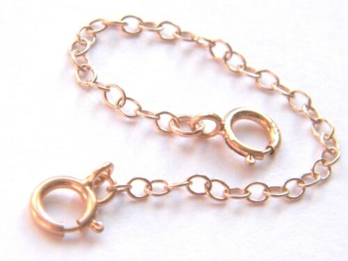 9ct Rose Gold Safety Extension Chain 4 Necklace Extender 7cm Findings-Bracelets