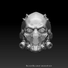 1//6 scale head sculpt cyber postapocalypse helmet robot cyberpunk unpainting
