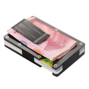 Men-Stainless-Steel-Elastic-Band-Slim-Money-Clip-Credit-Card-Holder-Wallet-Purse