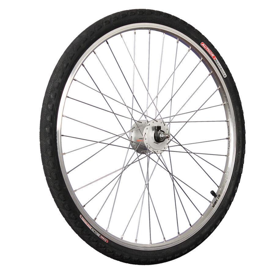 Taylor Wheels 26 Zoll Vorderrad mit Shimano Nabendynamo inkl. Author Bereifung