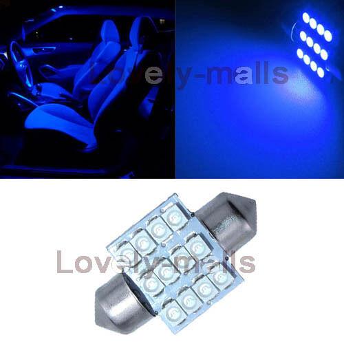 6PCS Blue LED Interior Car Lights Package kit Fit 07-2012 Toyota Yaris Sedan J1