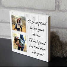 Item 5 Personalised Best Friend Birthday Wooden Picture Plaque Photo Block Present Gift
