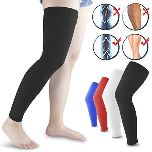 Compression-Long-Sleeve-Support-Leg-Knee-Brace-Socks-Sport-Pain-Relief-Men-Women