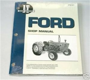 ford     cyl   tractor  shop