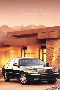 2003 Lincoln Town Car Limited Edition Original Car Sales Brochure Folder Ebay