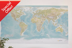 Details about Huge World Wall Map *** CANVAS ONLY *** NOT IKEA