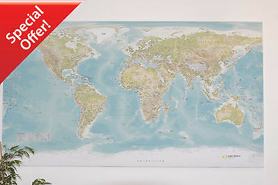 Huge World Wall Map *** CANVAS ONLY *** NOT IKEA | eBay