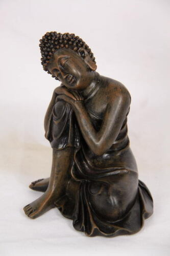 RESTING BROWN RULAI BUDDHA  INDOOR ORNAMENT FIGURINE  12CM BRAND NEW