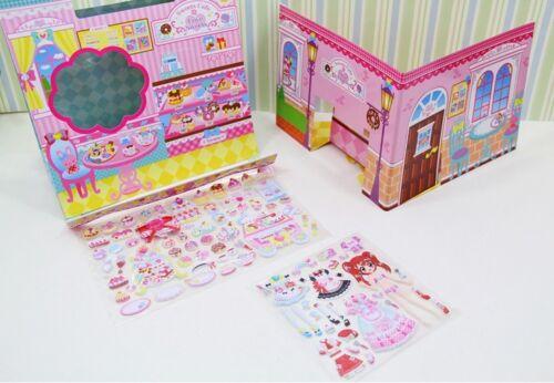 Princess Korean Dress up Cute Kawaii Stickers DIY Puffy bubble foam 3D play set