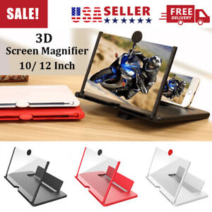 """12"""" Mobile Phone Screen Magnifier HD 3D Video Amplifier Pull-out Stand Bracket"""