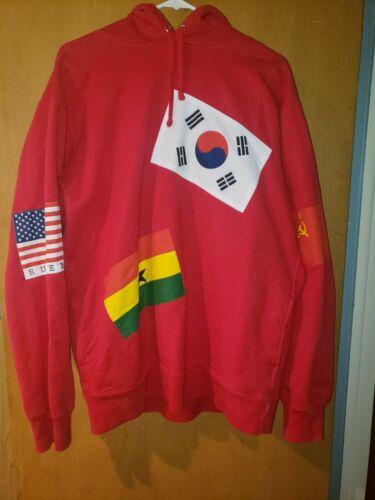 Supreme International Flags Hoodie - XL - Red