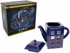 Doctor Who / Dr Who: Tardis Shaped Ceramic Teapot - New And Official BBC In Box
