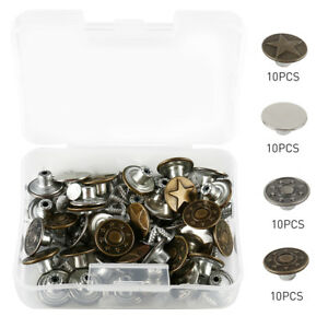 40Pcs-Jeans-Button-Metal-Tack-Buttons-Replacement-Kit-Repair-For-Sewing-Pants