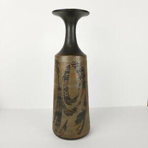 Mid-Century-Vase-Stoneware-Designs-West-California-Pottery-Ceramic-Large-16in