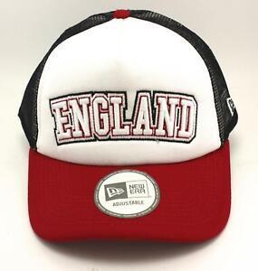 "ADJUSTABLE SNAP BACK TRUCKER CAP WORLD CUP COLOUR /""ENGLAND/"" OSFA NEW ERA"