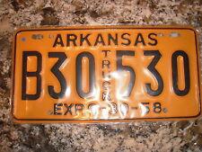 1958 ARKANSAS TRUCK LICENSE PLATE B30 530