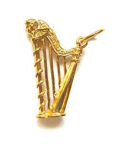 9ct gold harp pendant b33427 ebay image is loading 9ct gold harp pendant b33427 aloadofball Gallery