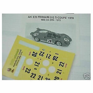DECALS-KIT-1-43-FERRARI-512S-DAYTONA-1970-DECALS-1-43