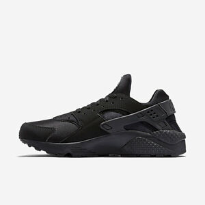 Nike Air Huarache Run Triple All Black White 318429 003 Size 8-13