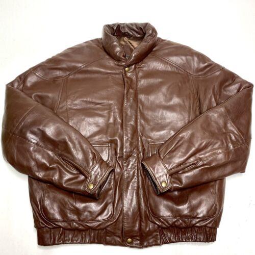 Vintage Eddie Bauer Goose Down Brown Leather Puffe