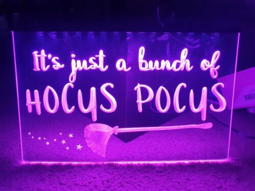 It/'s Just a Bunch Of Hocus Pocus LED Neon Light Home Sign Light up halloween its