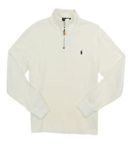 Polo Ralph Lauren Mens French Rib Half Zip Pullover Mockneck
