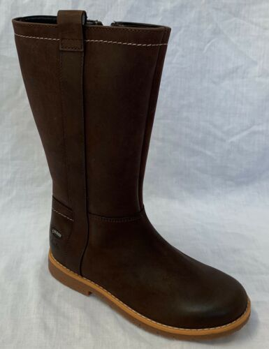 BNIB Clarks Girls Tildy High Brown Leather Gore Tex Boots E//F//G//H Fitting