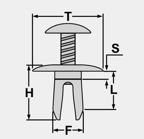 20 pzas clips de fijación para sala de motor calandra Toyota Avensis 53259-20030