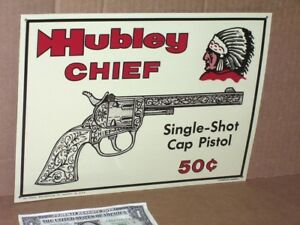 hubley chief embossed metal sign indian head logo ebay rh ebay com Indian Chief Skull Logo Indian Chief Motorcycle Logo