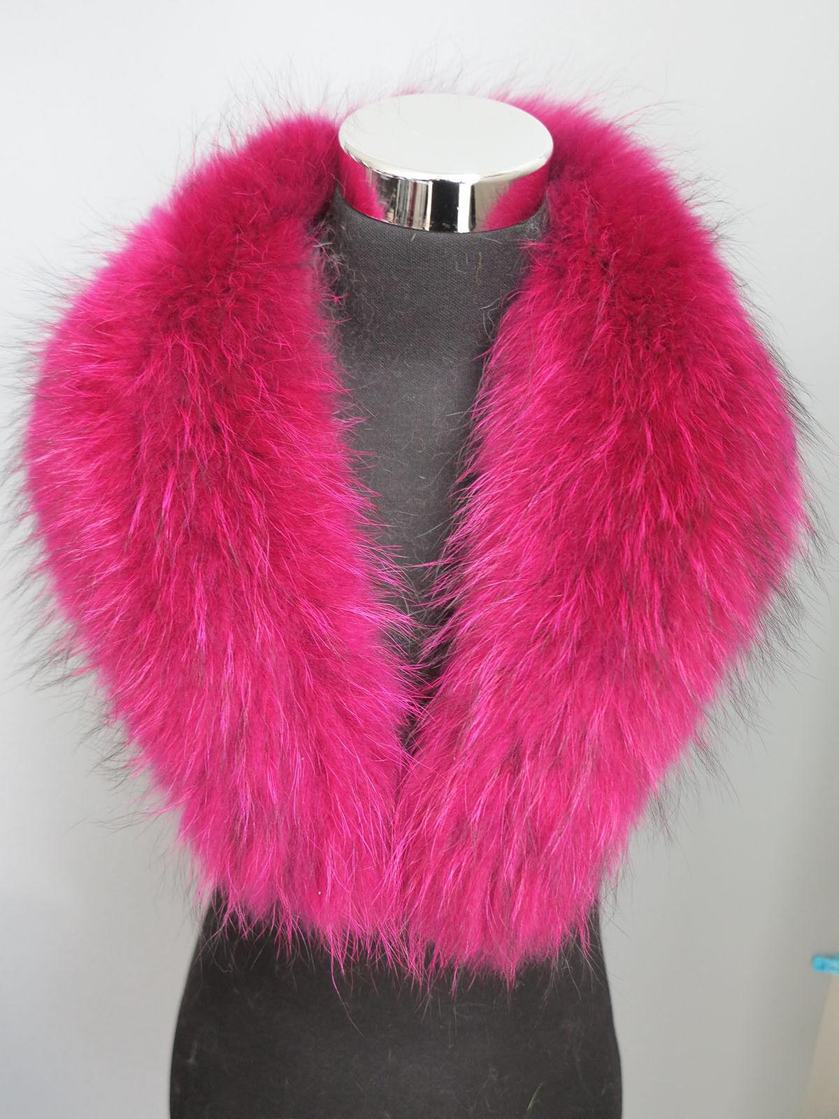 100% real raccoon fur collar / wrap /scarf jacket colla